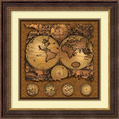 'Cartographica 3' by Max Besjana Framed Graphic Art