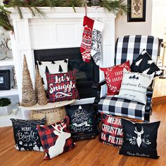 Spice up your Home decor with these darling Christmas Pillow Covers! Perfect for your couches, chairs, bed, or outdoor furniture! These will get your home in the holiday spirit. Christmas Room, Christmas Bedding, Christmas Cushions, Christmas Goodies, Christmas 2019, Christmas Gifts, Christmas Pillow Covers, Farmhouse Christmas Decor, Diy Home Decor On A Budget