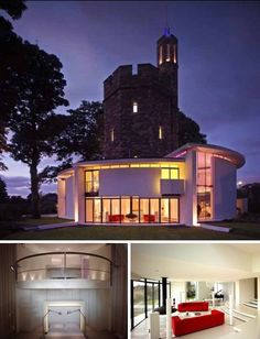 Lymm water tower house has a fascinating combination of old stone and modern concrete.
