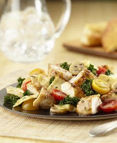 This flavorful chicken and pasta dish makes a quick weeknight meal.