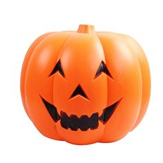 KEEPING LED Pumpkin Night Light Lamp Jack O Lantern Halloween Party Bar Decoration Carnivals Holiday with Scary Sound L Sonic lamp >>> Check out this great product.