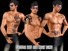 Saliwa's Tattoo Set For Male Sims