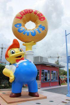 Duff Gardens, Lard Lad Donuts, & Bumblebee Man Taco Truck at Universal Orlando's Simpsons' Area