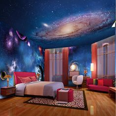 Wall still 3d character customization galaxy star ceiling for Ceiling mural in a smoker s lounge