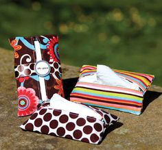 How about turning an extra eyeglass case into a holder for a packet of tissues that fits inside your purse or brief case?