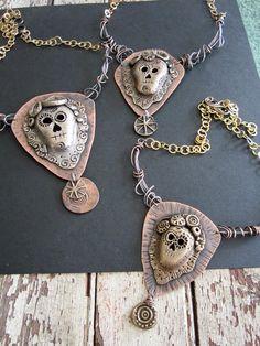 staci louise originals sugar skulls in bronze and copper