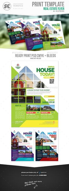 Flyer templates designed exclusively for house / land for sale, properties, services, promotion or any of use. Fully editable, image/logo can be quickly added or replaced in smart objects.  Easy to edit just find and replace image in the smart object layer, th