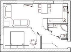 Дизайн интерьра квартиры 42 кв. м #cocinaspequeñasdepartamento