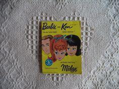 Vintage 1962 Barbie & Ken, Midge Teenage Fashion Mini Booklet Mattel Japan  #Mattel #ClothingTools