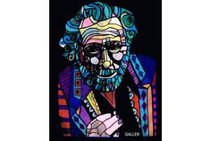 Charles Bukowski Art print Art Print Poster by Heather GallerHeather Galler Modern Abstract Portrait Famous Writer author (HG285)