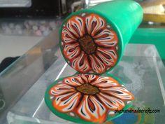 Unbaked polymer clay cane raw millefiori flower clay by Shygarshop