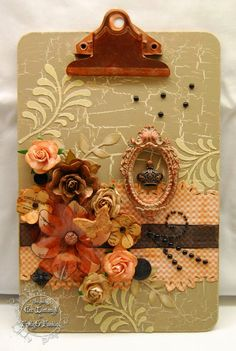 CW Card Creations: Altered Clipboard  http://cwcardcreations.blogspot.com/2015/05/altered-clipboard.html