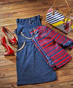 #azul e #vermelho duas cores que não podem faltar num look #navy. #marinheiro #riscas #2014 #estrearnovidades