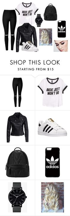 """""""lycée"""" by audoux-elodie on Polyvore featuring mode, H&M, New Look, adidas et The Horse"""