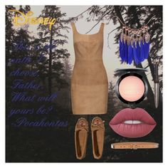 """""""Disney: Pocahontas"""" by lraedempsey on Polyvore featuring Disney, Bailey 44, Burberry, Hollister Co., MAC Cosmetics and Lime Crime"""