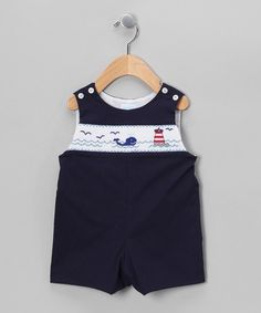 Take a look at this Navy Blue Whales and Sails John Johns - Infant by Betti Terrell on #zulily today!