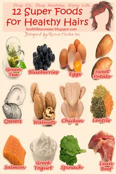 12 Super Foods for Healthy Hairs