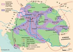 Keresd meg a képen azt a hágót, amelyen a tatár fősereg betört Batu kán vezetésével! Folk Music, History, Maps, Hungary, Animales, Historia, Folk