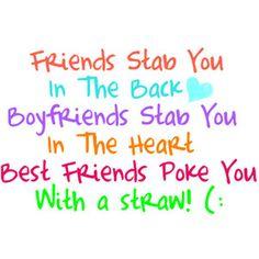 Best Friend Quotes!! - Polyvore