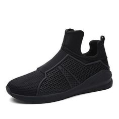 dcfc7dae353ecf Breathable Slip-on High-Top Sneakers