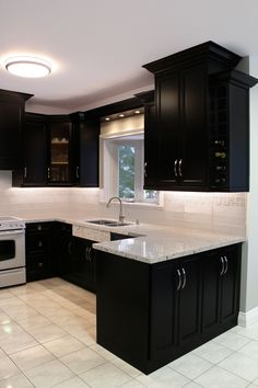 37 Modern Kitchens For Starting Your Home Improvement Black Kitchen Cabinets hom. - 37 Modern Kitchens For Starting Your Home Improvement Black Kitchen Cabinets home Improvement kitch - Kitchen Room Design, Kitchen Cabinet Design, Modern Kitchen Design, Home Decor Kitchen, Interior Design Kitchen, Kitchen Ideas, Diy Kitchen, Eclectic Kitchen, Awesome Kitchen