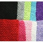 Colorful extra large crochet headbands with soft lining for crafting tutu dresses.