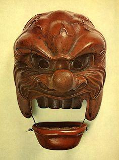 "A mask of Japanese Bugaku. ""agenjyouraku"". 1173. Heian era."