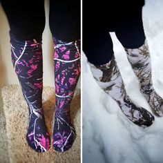 Knee-high Camo Boot Socks- not the pink ones. Cute Country Outfits, Country Girl Style, Country Fashion, Camo Outfits, Fashion Outfits, Cowgirl Outfits, Muddy Girl Camo, Camo Boots, Pink Camo