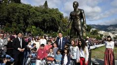 The statue of Cristiano Ronaldo in Madeira Island - The statue of Cristiano Ronaldo in Madeira Island - Cristiano Ronaldo opened on Sunday (December 23), in Madeira, his own statue, which will be to remember