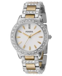 14a79e43ae38 Fossil Women's Jesse Two Tone Stainless Steel Bracelet Watch 34mm ES2409 &  Reviews - Watches - Jewelry & Watches - Macy's
