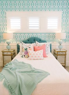 Turquoise Room Decorations – Aqua Exoticness Ideas and Inspirations Tags: turquoise room, turquoise room decor, turquoise bedroom ideas, turquoise living room Aqua Bedroom Decor, Aqua Bedrooms, Bedroom Colors, Decor Room, Dream Rooms, Dream Bedroom, Home Bedroom, Bedroom Girls, Bedroom Furniture