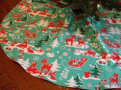 Mod Reindeer Christmas Tree Skirt
