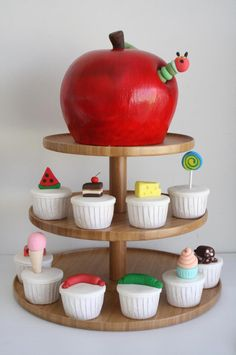 Hungry Caterpillar Cake by The Cupcake Lady