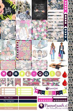 Free Printable We Love Spring Planner Stickers by http://AnacarLilian.deviantart.com on @DeviantArt