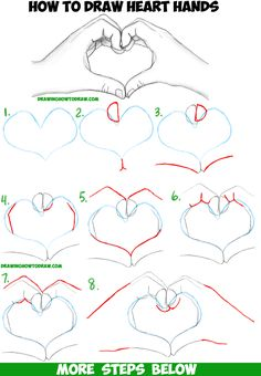 How to Draw Heart Hands in Easy to Follow Step by Step Drawing Tutorial for Beginners and Intermediates - How to Draw Step by Step Drawing Tutorials
