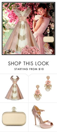 """""""...such a beautiful soul...(to whiteflower7)"""" by dezaval ❤ liked on Polyvore featuring Roberto Cavalli and Badgley Mischka"""
