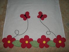 Aplicaciones Patchwork Flores Ideas 55 New Ideas Wool Applique, Applique Patterns, Applique Designs, Embroidery Applique, Quilt Patterns, Machine Embroidery, Embroidery Designs, Sewing Crafts, Sewing Projects