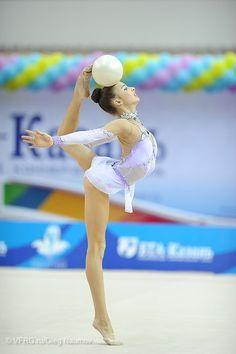 Karina Katyukhina, Russia, junior Russian Nationals 2014 #rhythmic_gymnastics