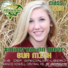 ▶ 2016 #MinerVB Recruiting Class: EVA MICH   5-8   Defensive Specialist   Francis Howell Central HS   Rockwood Thunder VBC   St. Peters, Missouri