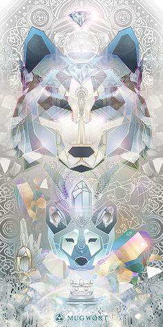 Chrystalline Wolf Totem | Mugwort