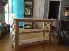 X Console Table - Handmade Haven Diy Furniture Plans, Inexpensive Furniture, Diy Furniture Projects, Small Furniture, Woodworking Projects Diy, Repurposed Furniture, Rustic Furniture, Home Furniture, Furniture Stores