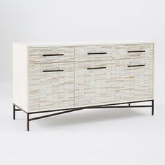 Wood Tiled Media Console