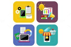 Ecommerce and Digital Marketing by robuart on Creative Market