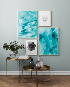 Abstract ocean Poster – 50x70Abstract water Poster – 30x40Black Wood Poster...