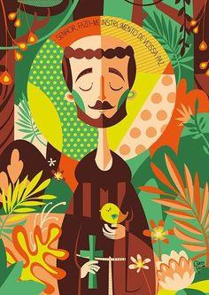 São Francisco de Assis. Este pôster foi criado pela ilustradora Clau Souza e…