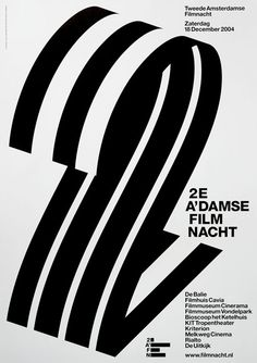 Second Amsterdam Film Night: three dimensional / monotone / negative space / strips / pattern CREDIT: Experimental Jetset