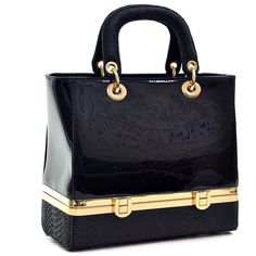 Dooney & Bourke Black Patent Leather Large Tassel Crossbody Bag ...