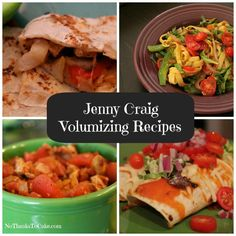 A full listing of all the great No Thanks to Cake Jenny Craig Volumizing Recipes!