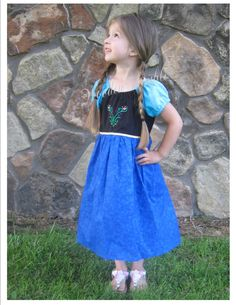 Anna Inspired Everyday Princess Dress by WoodenThimble on Etsy, $40.00