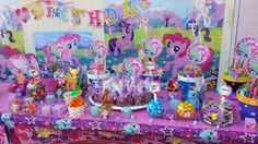My little pony candy bar table